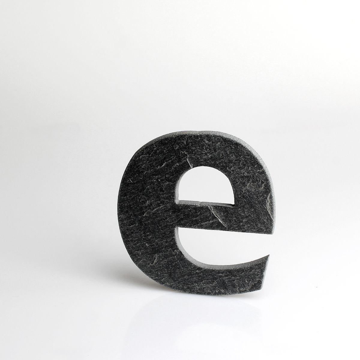 """Domovní číslo popisné Břidlice LILY - písmeno """"e"""""""