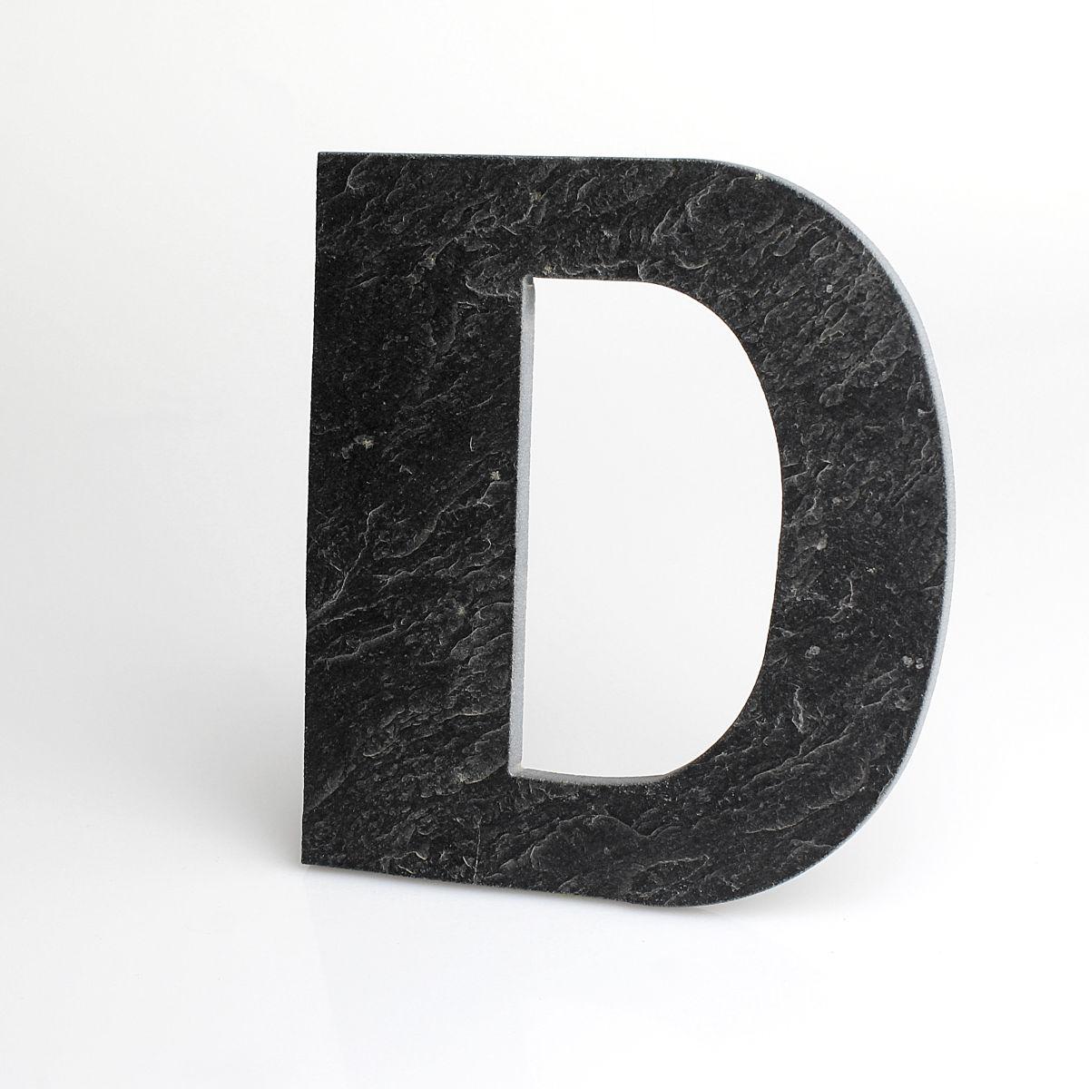 """Domovní číslo popisné Břidlice LILY - písmeno """"D"""""""