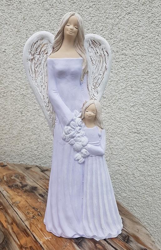 Andělka SÁRA s holčičkou, fialová