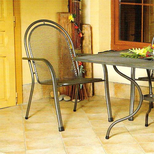 Zahradní nábytek - křeslo CORINA kovová židle