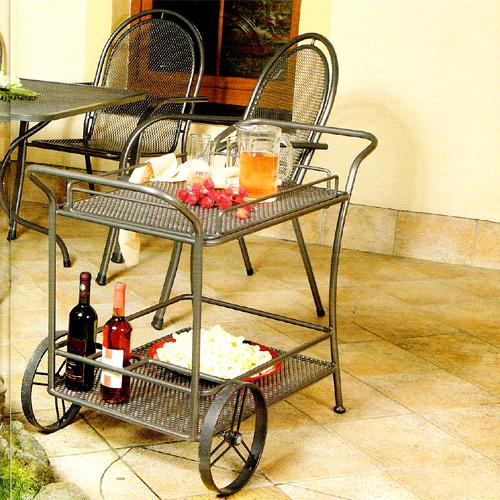 Zahradní nábytek - Kovový stolek - servírovací vozík