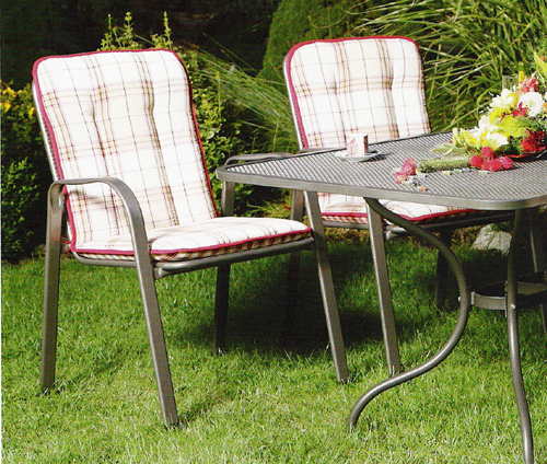 Zahradní nábytek - křeslo SÁGA nízká kovová židle