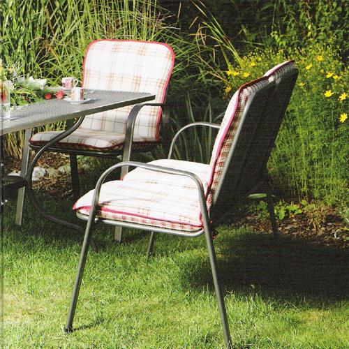 Zahradní nábytek - SÁGA dubl dvojitá kovová židle