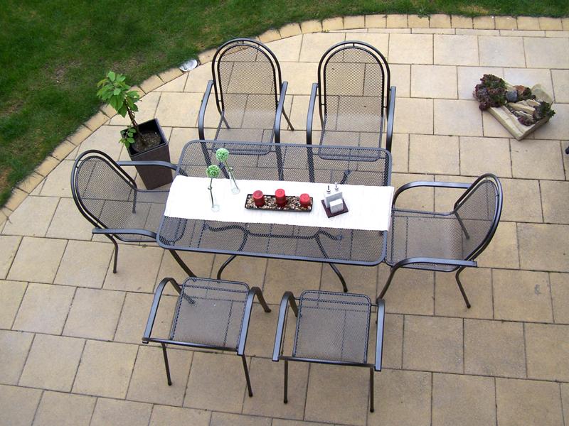 Zahradní kovová sestava CORINA 1+6 TAKO 145x90