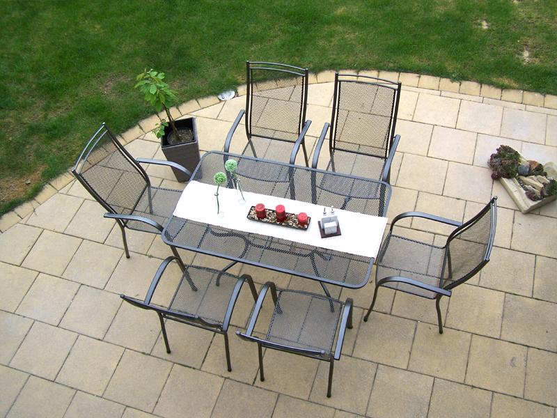 Zahradní kovová sestava ELTON 1+6 TAKO 145x90