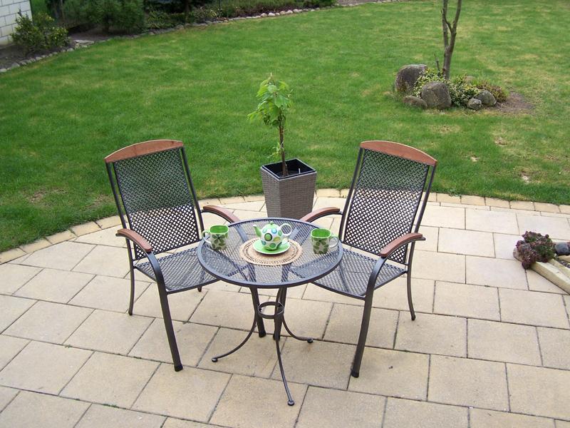 Zahradní kovová balkonová sestava MONACO 1+2 TAKO 70
