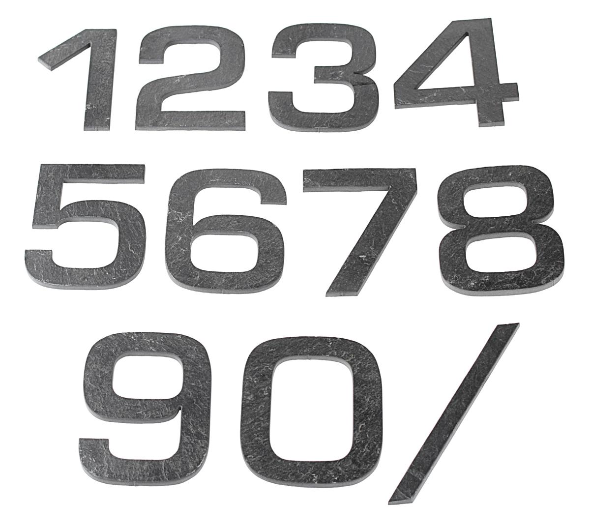 Domovní číslo popisné Břidlice EUROMODE - č. 1