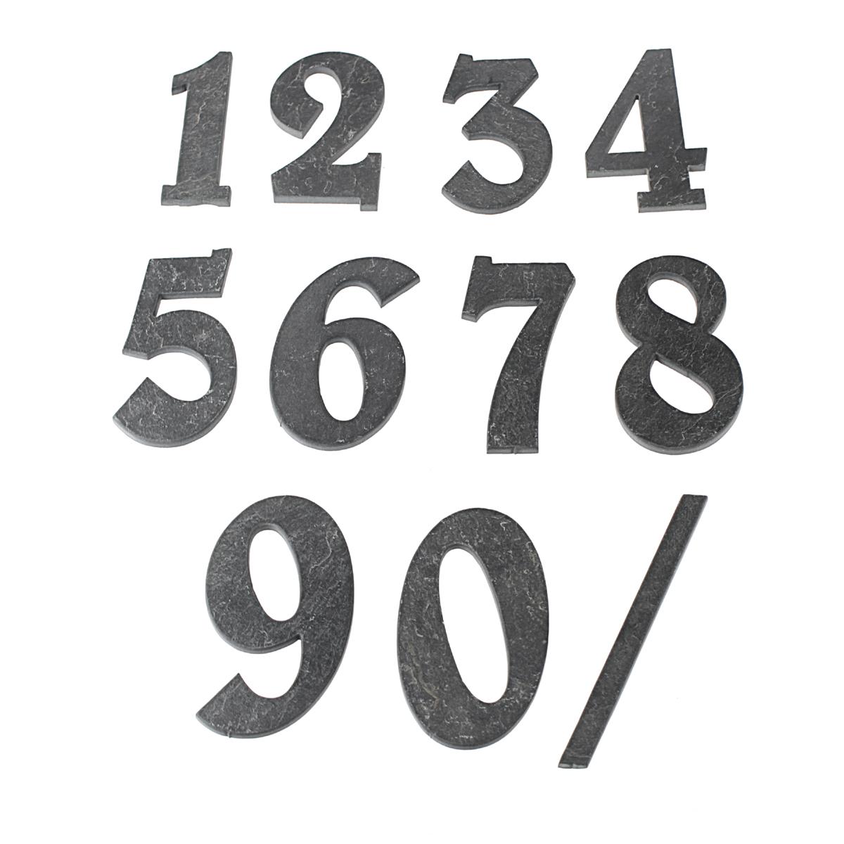Domovní číslo popisné Břidlice BELWE - č. 0