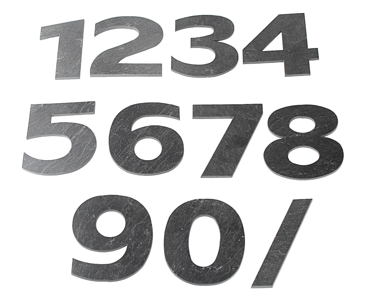 Domovní číslo popisné Břidlice LILY - č. 0