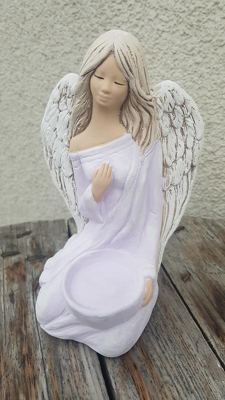 Andělka WERONIKA na svíčku - fialová