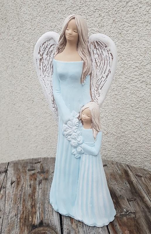 Andělka SÁRA s holčičkou, modrá