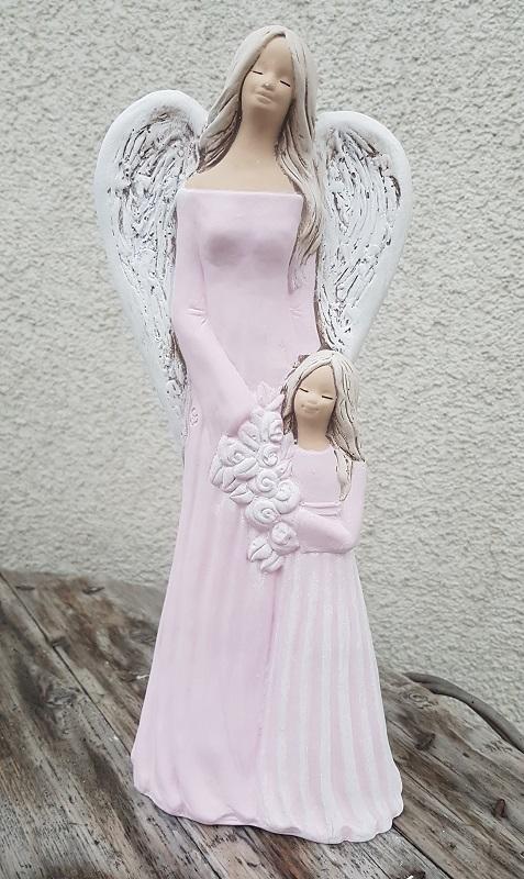 Andělka SÁRA s holčičkou, růžová