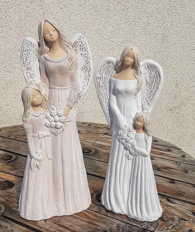 Andělka SÁRA s holčičkou, bílá