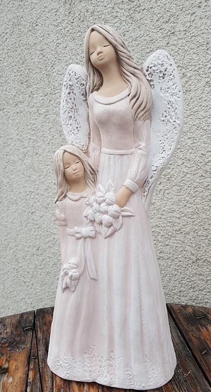 Andělka LUKRECJA  s holčičkou, cappuccino